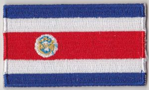 Costa Rica Embroidered Flag Patch, style 04.